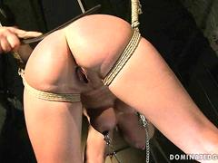 Sexy blonde being punished