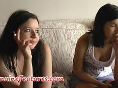 Teen punk lesbians masturbate on the couch