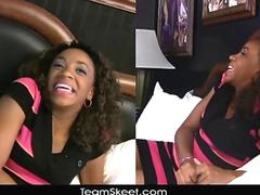 TeenyBlack Young ebony Michelle Brown hardcore sex orgasm