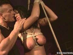 Busty sex slave getting punished