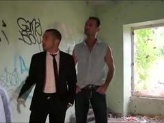 Two hot french gay dudes in hard deep blowjob fun