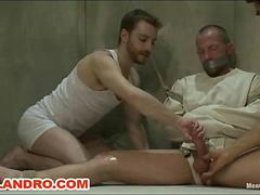 Special Four Hand Massage  Gay Edging