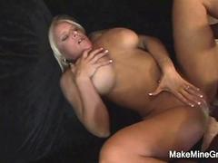 Threesome For Two Hot Lesbians And Facial