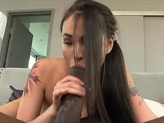 Asian girl enjoys big cock