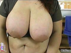 Sexy old wife with huge natural tits