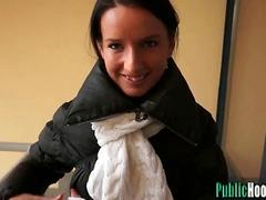 Euro Babe Agrees to Suck Dick for Money