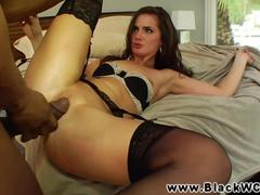 Lily Carter fucked by a black guy deep and rough
