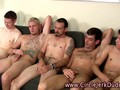 Amateur straight guys jerking off their engorged peckers