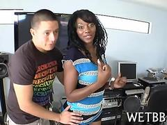 Hot ebony singer gets groped in the studio