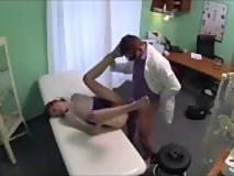 Innocent redhead gets a creampie in a  Fake Hospital