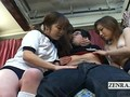 Subtitles Japanese uniformed group harem with blowjobs