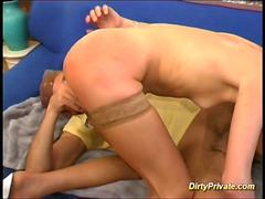 cute Blonde cupcake in rough anal action