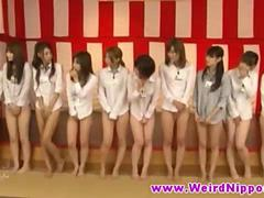 Oriental hotties in a classical weird Asian game show