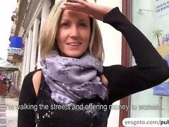 Fucking hard a hot and beautiful blonde amateur in public