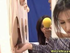Japanese hottie fingered during gameshow