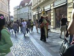 Sweet babe Eileen naked on public streets