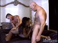 Ebony housewife pounded by her neighbor