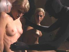 Helpless blonde slaves tormented in a dungeon castle