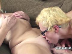 Liisa is getting fucked by a slutty lesbo
