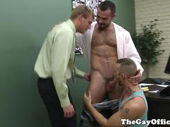 Jessie Colter in gay office bj threeway