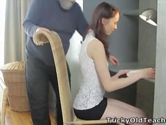 Alina loves to get good grades and she is not afraid of putting her pussy on the line for it
