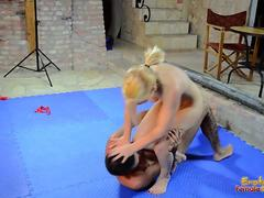 Stacie Star Wrestles With Her New Toy Sebastian