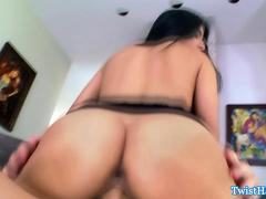 Megan Salinas bouncing on hard cock