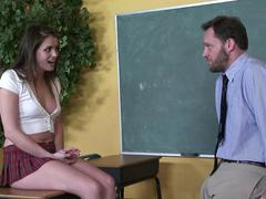 Horny teacher fucks his beautiful young schoolgirl Tori Black