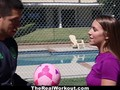 TheRealWorkout - Juicy Tits Brunette Gets Drilled By Her Soccer Coach