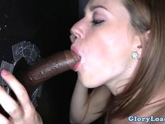 Hot gloryhole cum swallower Lizzle Tucker gets her pussy fucked