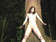 Spanked, whipped, waxed and washed slave girl