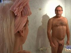 Young blonde sucking 65 old cock