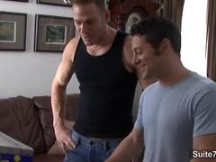 Horny gays kissing and fucking