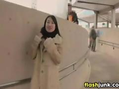Japanese Chick Flashing And Fucking In Public