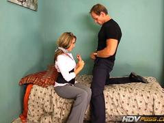 Hdvpass tight blonde ella milano deepthroats and rides huge cock film