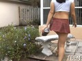 sexy teen with a mini skirt is hardcore fucked