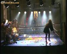 Michelle Wild gangbang in ring