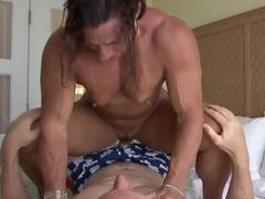 Aggressive Muscle Babe Sits on His Face