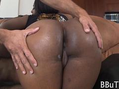 big ass black bitch rides the fat dick too