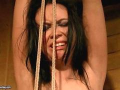 Sex slave gets painfully punished and fucked