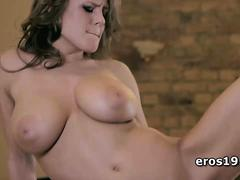 Busty Vanea H masturbating on the counter top
