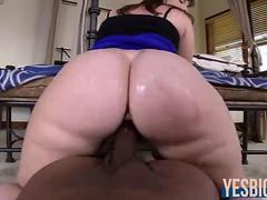 Jumbo booty Virgo Peridot anal destroyed by huge ebony cock