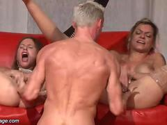 public threesome on stage