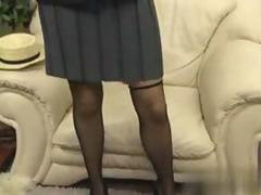 Big tits schoolgirl blonde dildoing her pussy solo