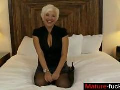 Big tits blonde gets her plump pussy smashed by a young Romeo