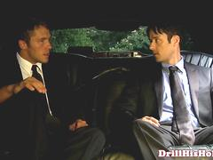 Hunky dilf limo driver assfucking firsttimer