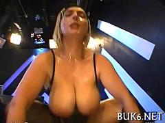 Big tits German Blonde gang banged and covered with hot cum
