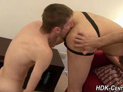 bareback stud facializes blowjob