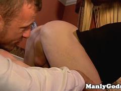 Ripped muscle rimming and cocksucking