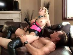 Alanah sex in shiny latex lingerie and gloves
